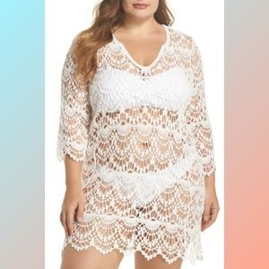 Surf Gypsy Crochet Swim Suit Cover-Up Tunic 2X 3X